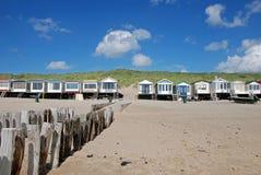 Verão vivo das casas de praia Fotos de Stock Royalty Free