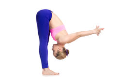 Veränderung der Uttanasana-Yogahaltung Lizenzfreies Stockfoto