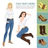 Veränderungsmodelle von Schuhen Lizenzfreies Stockfoto