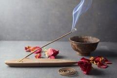 Verärgern Sie Steuerknüppel aromatherapy stockbild