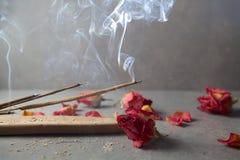 Verärgern Sie Steuerknüppel aromatherapy stockfoto
