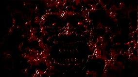Verärgerte Dämongesichtsschreie von der Dunkelheit stockfoto