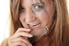 Verärgerte dengerous Prinzessin Stockfoto