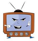 Verärgerte Fernsehkarikatur Lizenzfreie Stockbilder