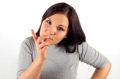 Verärgerte Frau #21 Stockbild