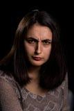 Verärgerte Frau Lizenzfreies Stockbild