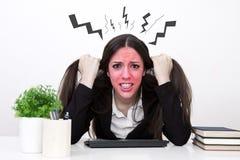 Verärgerte Geschäftsfrau Lizenzfreie Stockbilder