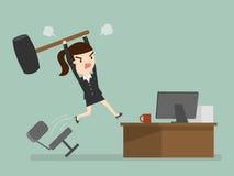Verärgerte Geschäftsfrau lizenzfreie abbildung