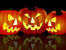 Verärgerte Halloween-Kürbise lizenzfreie stockbilder
