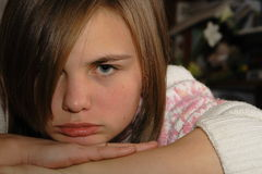 Verärgerte junge Frau Stockfotos