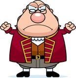 Verärgerte Karikatur Ben Franklin stock abbildung