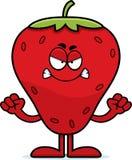 Verärgerte Karikatur-Erdbeere Lizenzfreie Stockfotografie