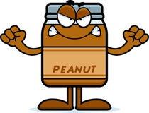 Verärgerte Karikatur-Erdnussbutter Stockfotografie