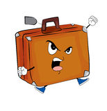 Verärgerte Kofferkarikatur Stockfotos