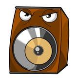 Verärgerte Lautsprechervektorabbildung. Lizenzfreies Stockbild