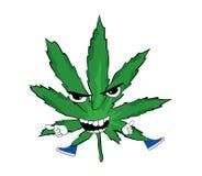 Verärgerte Marihuanakarikatur Stockfoto