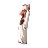Verärgerte Muftis der Karikatur Stockfotos