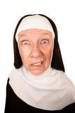 Verärgerte Nonne Lizenzfreie Stockbilder