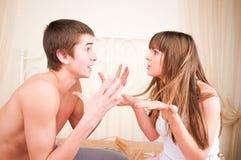 Verärgerte Paare Lizenzfreie Stockfotos