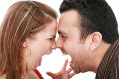 Verärgerte Paare Stockfoto