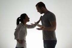 Verärgerte Paare, die Argument haben Lizenzfreie Stockfotos