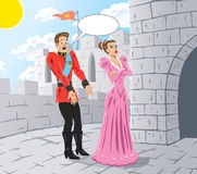 Verärgerte Prinzessin lizenzfreie abbildung