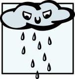Verärgerte regnende Wolke stock abbildung