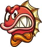 Verärgerte rote Fische mit den gekreuzten Armen stock abbildung