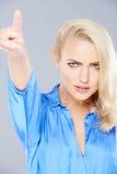 Verärgerte schöne blonde Frau Stockbilder