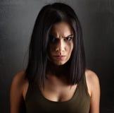 Verärgerte schlechte Frau lizenzfreie stockfotografie