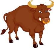 Verärgerte Stierkarikatur Stockfoto