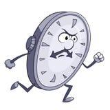 Verärgerte Uhr läuft Lizenzfreie Stockfotos