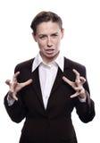 Verärgerte und frustrierte Frau Stockfoto