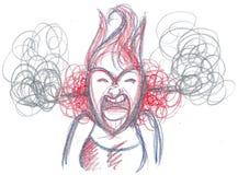 Verärgerte wütende Frau Stockbild