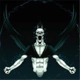 Verärgerter Dämon mit Hintergrund. vektor abbildung