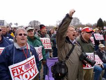 Verärgerter Fischen-Protest am Kapital Lizenzfreie Stockfotografie