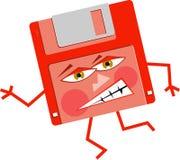 Verärgerter Floppy-Disc Stockfoto