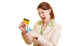 Verärgerter Geschäftsfrauausschnitt stockbilder