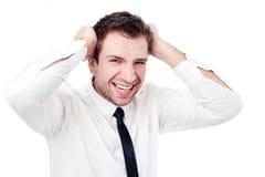 Verärgerter Geschäftsmann Lizenzfreie Stockbilder