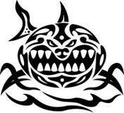 Verärgerter Haifisch Stammes- Stockfoto