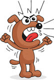 Verärgerter Hund Stockfoto