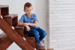 Verärgerter Junge Lizenzfreie Stockfotos