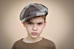 Verärgerter junger Junge Lizenzfreie Stockbilder