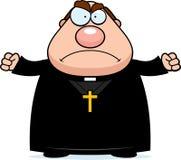 Verärgerter Karikatur-Priester Stockbild
