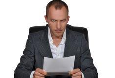 Verärgerter Leiter Lizenzfreies Stockbild