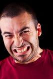 Verärgerter männlicher Mann Stockfoto