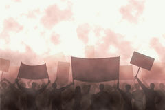 Verärgerter Protest Stockfoto