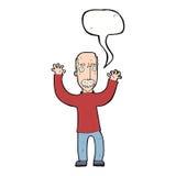verärgerter Vati der Karikatur mit Spracheblase Lizenzfreies Stockfoto