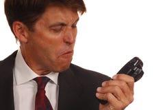 Verärgerter Verkäufer lizenzfreies stockbild