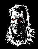 Verärgerter Zombiekopf Auch im corel abgehobenen Betrag stockfotos